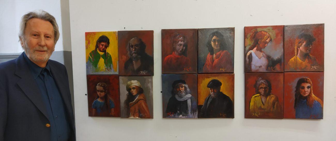 Εγκαινιάστηκε η έκθεση ζωγραφικής «Ζωή στην πόλη» του Αθανάσιου Σταθακόπουλου στην Αστική Σχολή Κατερίνης