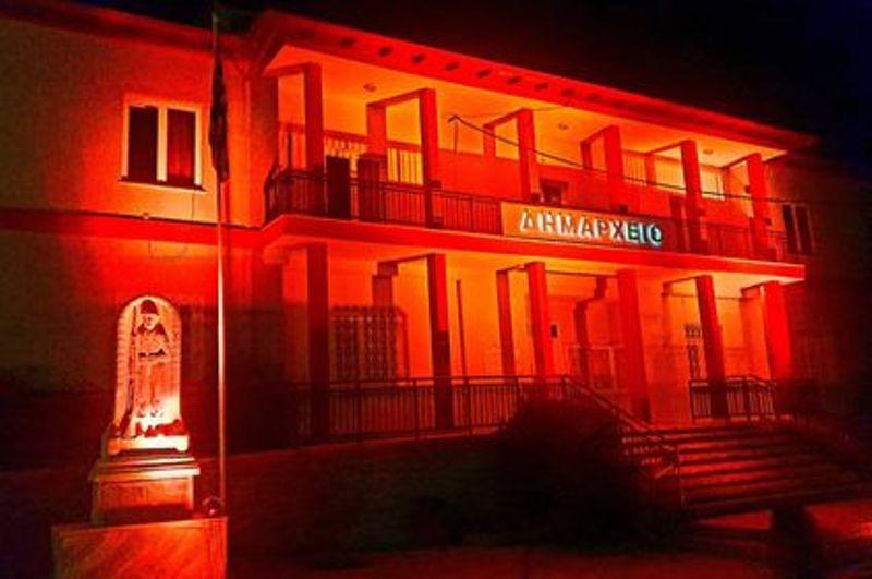 Πορτοκαλί το Δημαρχείο στο Αιγίνιο – Ο Δήμος Πύδνας-Κολινδρού συμμετείχε σε Δράση για την «Παγκόσμια Ημέρα εξάλειψης της βίας»
